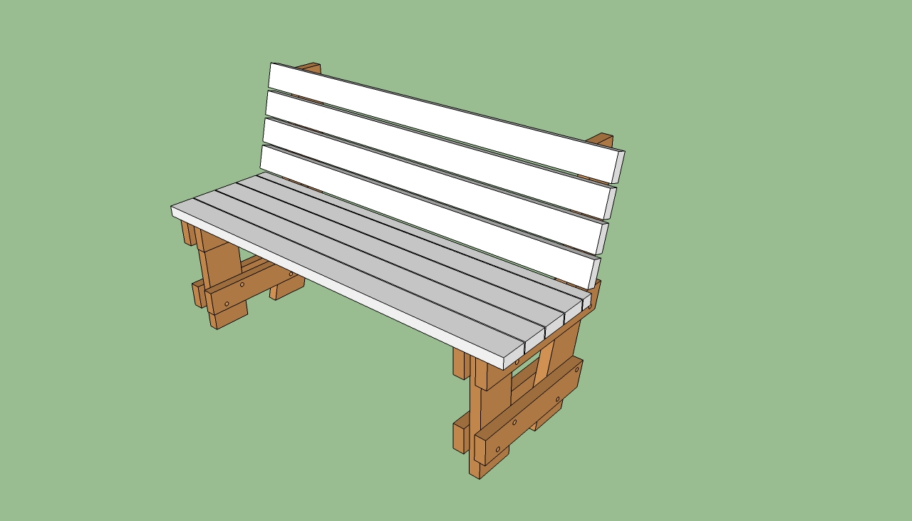 outdoor bench blueprints