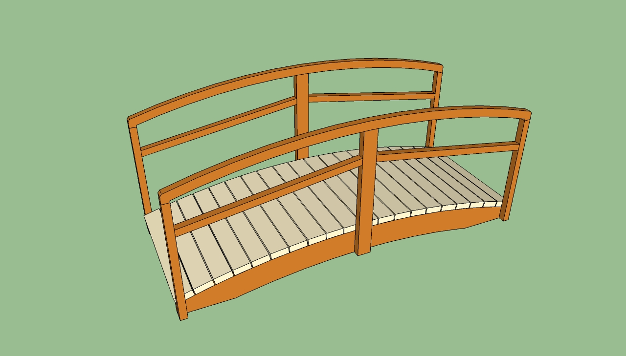 Wood How To Build A Wooden Garden Bridge Blueprints » freedownload
