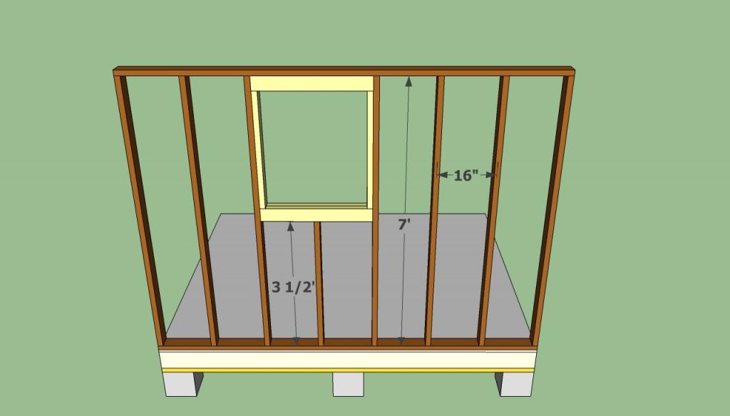 Garden shed window frame