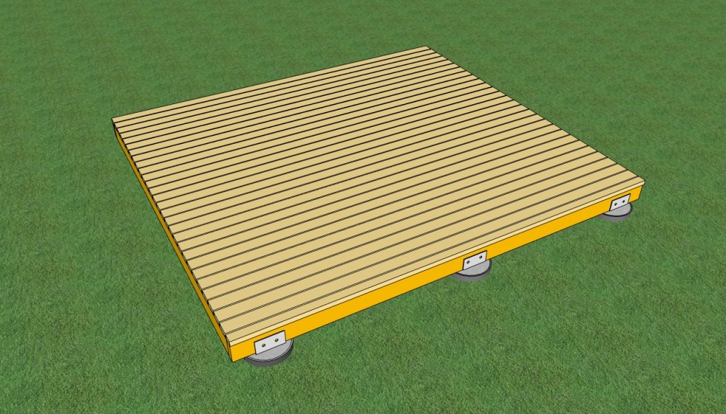 how to build a deck on the ground howtospecialist how to build