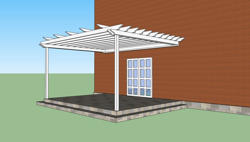 How to build a pergola attached to the house for How to frame a house step by step