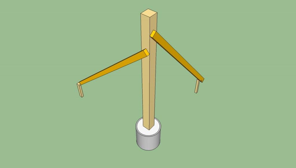 Installing a pergola post