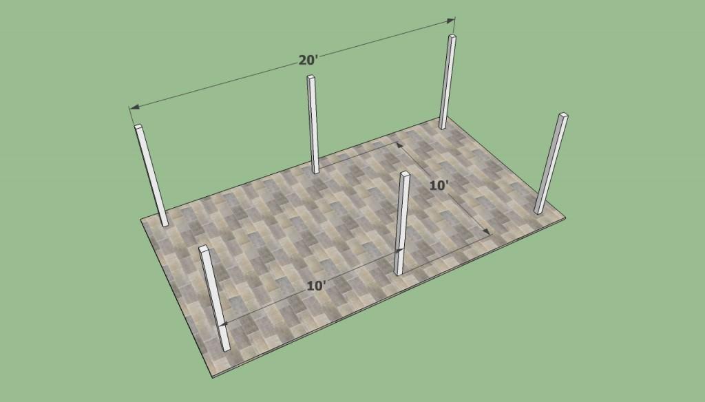 Installing carport postss