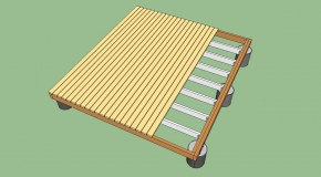 How to build a deck on the ground