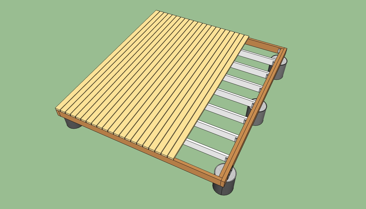 Floating deck plans free howtospecialist how to build for Deck planner online free