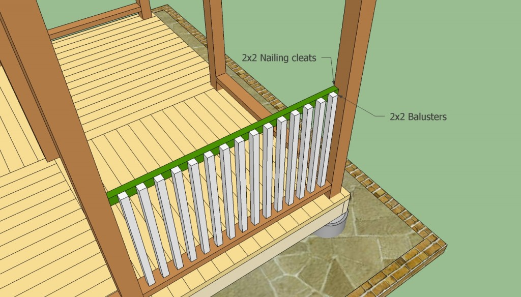 Installing gazebo railings