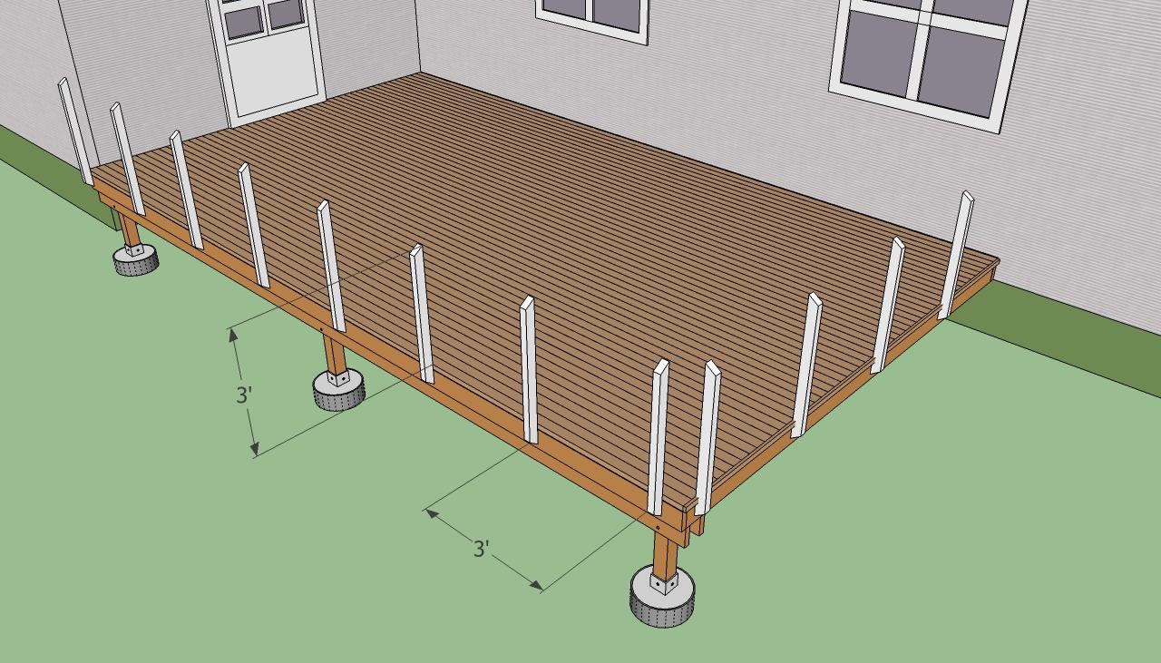 Deck Building: Deck Building Railing Post