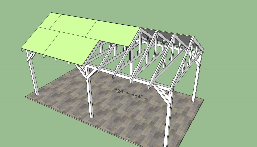 Installing roofing sheets