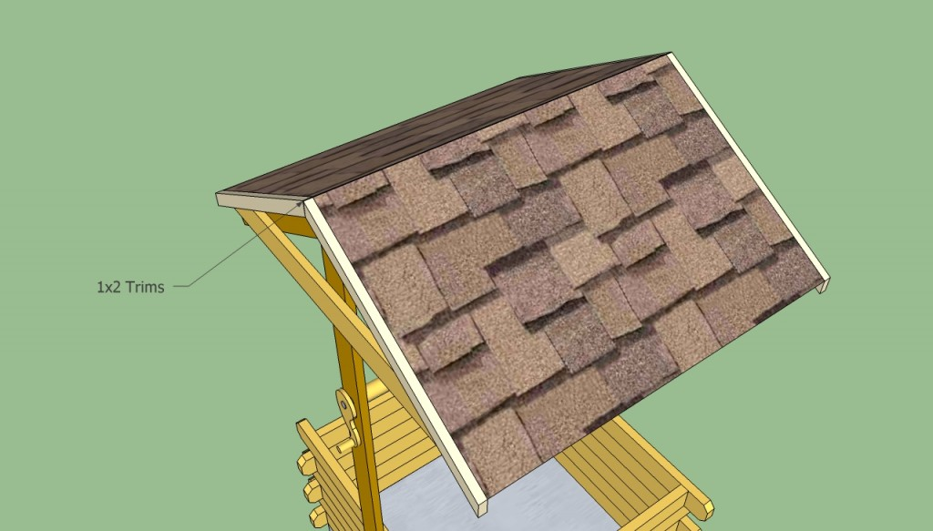 Installing shingles on the roof