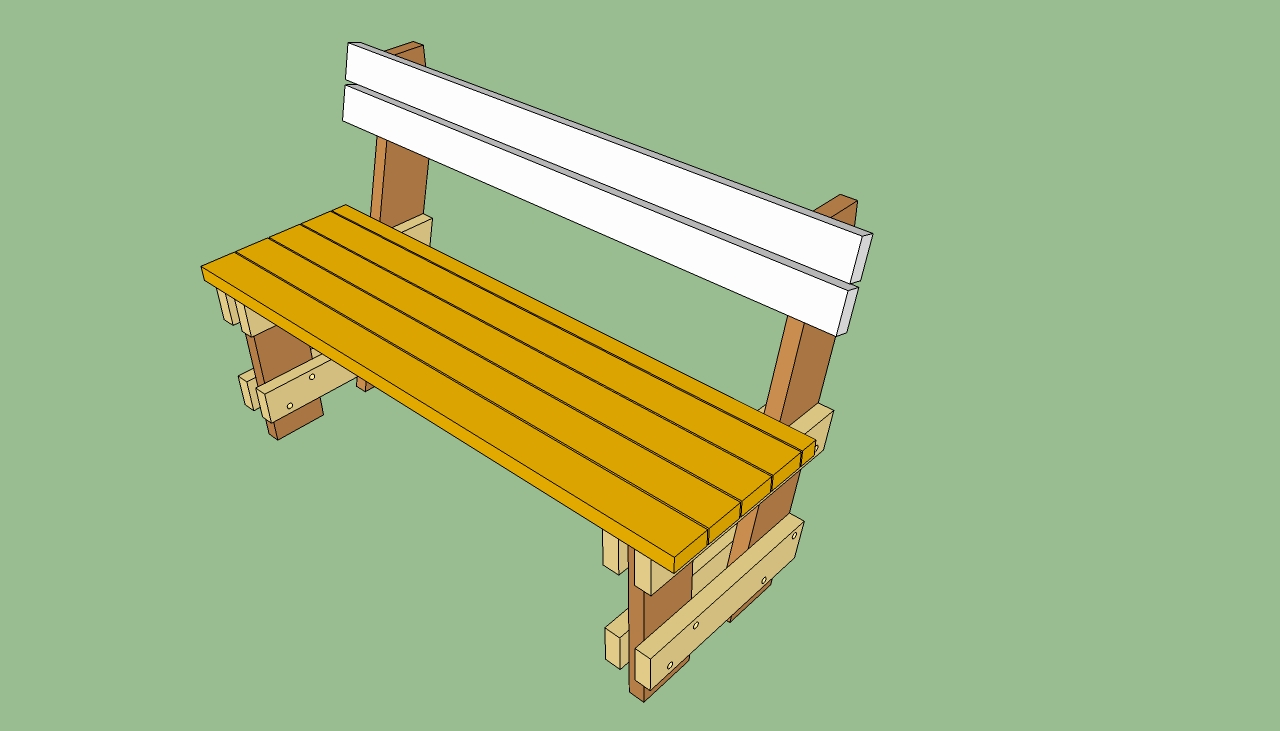 bench with back plans