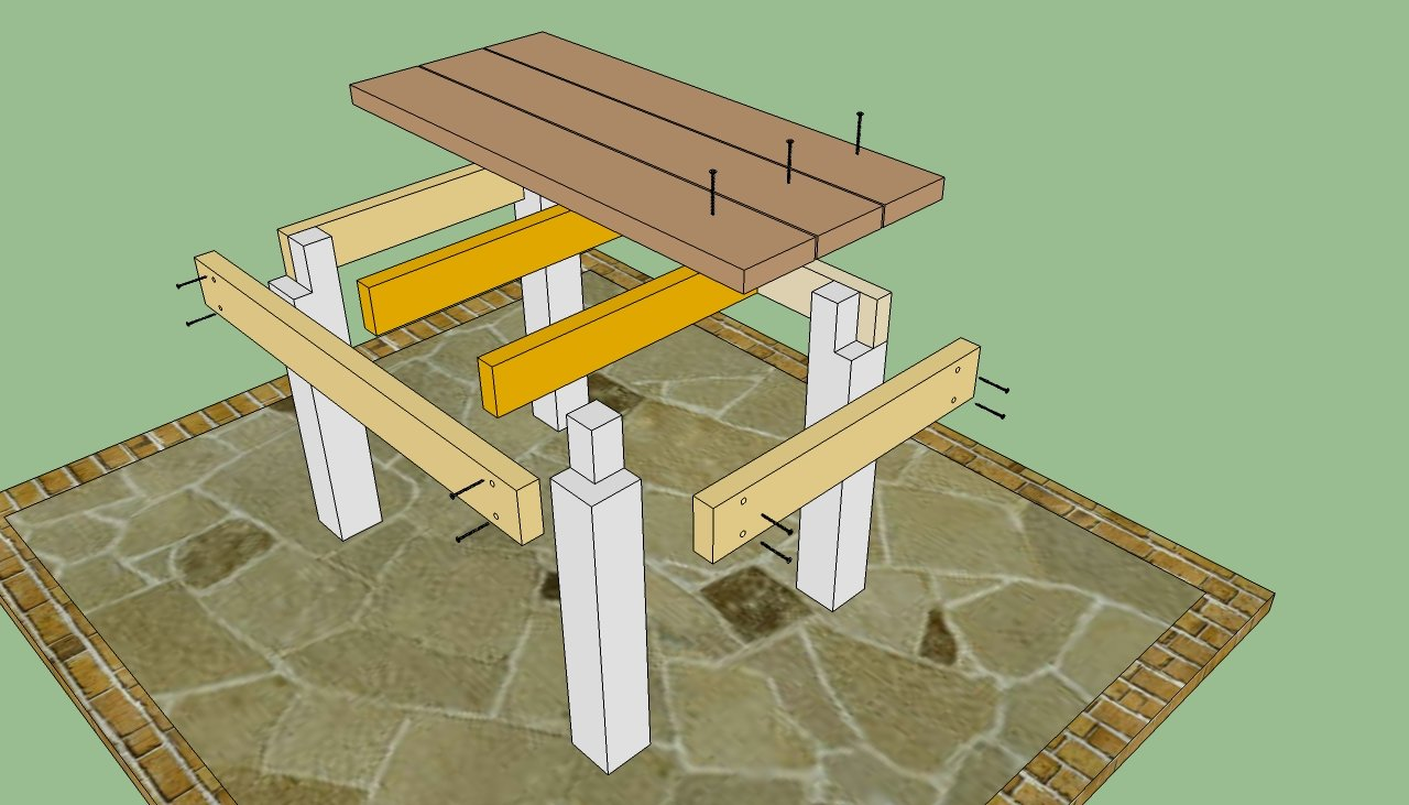 patio table plans howtospecialist how to build step by step diy