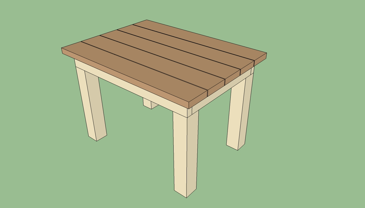 Backyard Table Plans : Patio table plans  HowToSpecialist  How to Build, Step by Step DIY