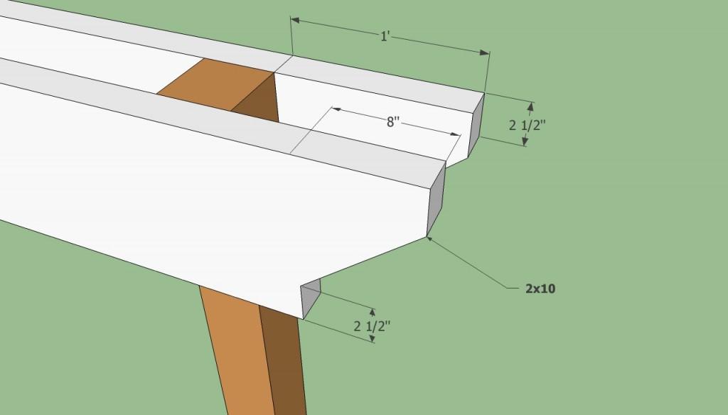 Pergola support beam plans