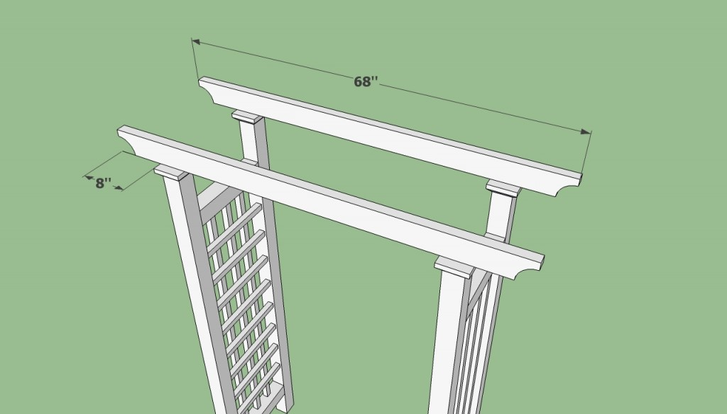 Garden arbor plans howtospecialist how to build step for Wooden garden arbor designs
