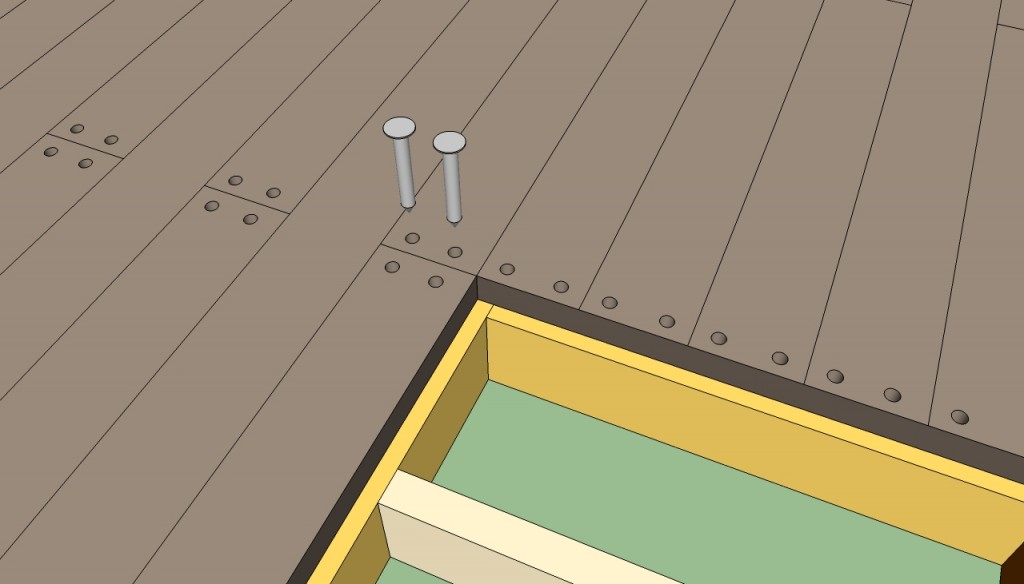 Securing decking with screws