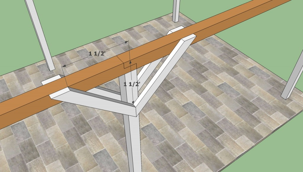 Securing the carport with braces