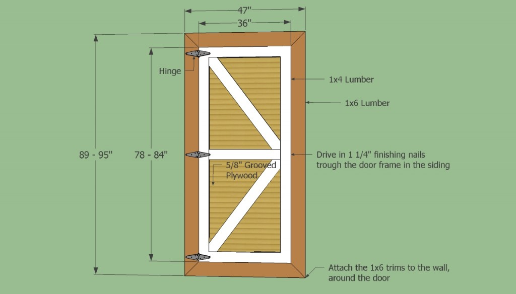 Stoorage shed door plans