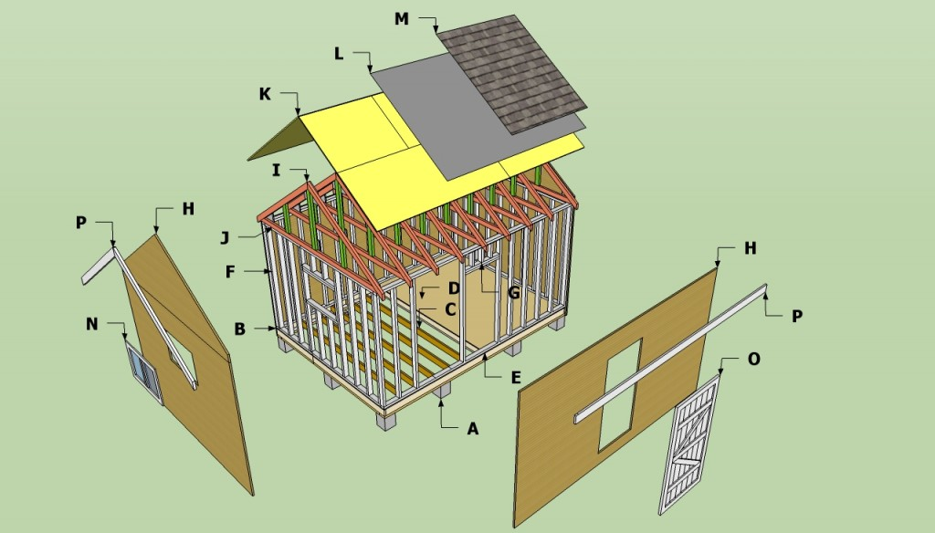 Storage shed plans free, how to build a storage shed