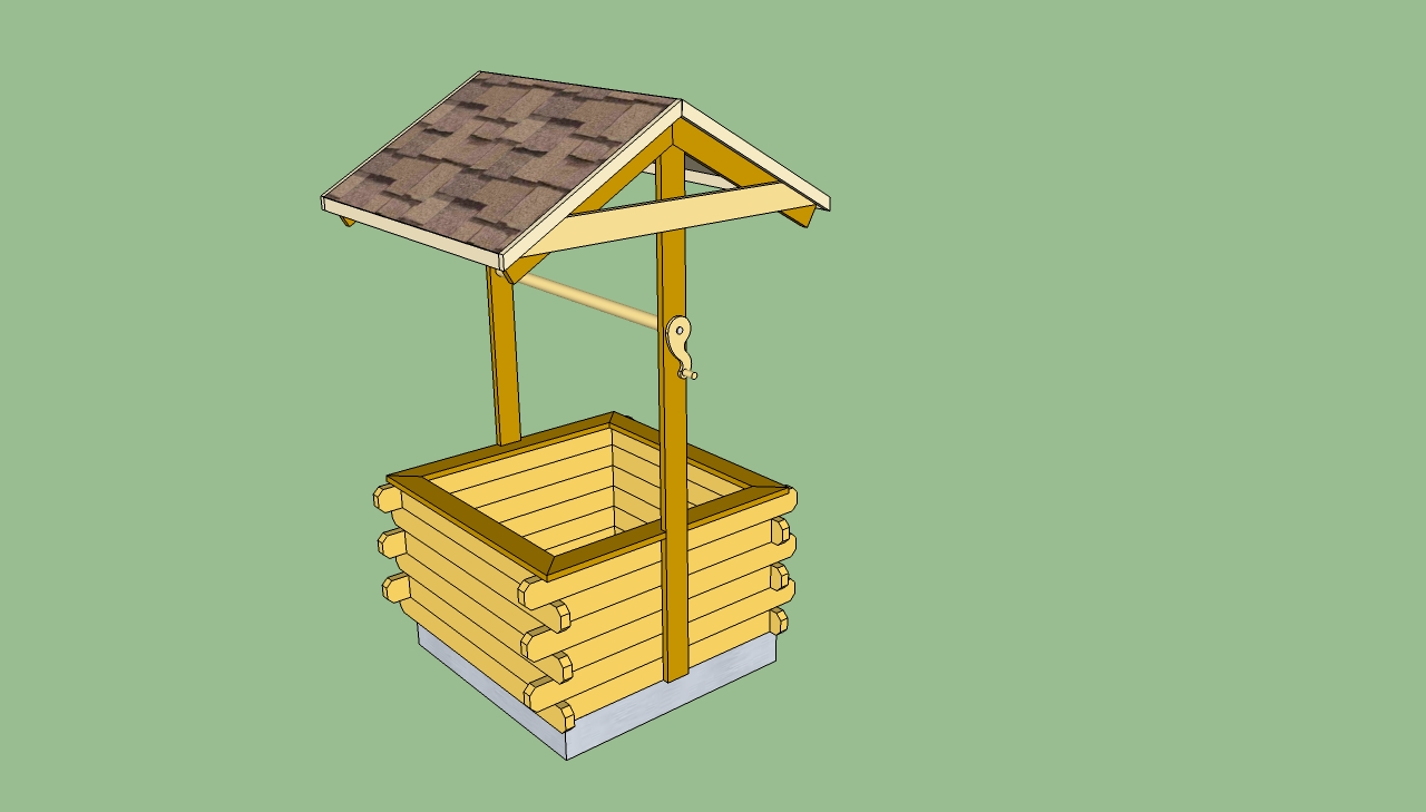 free wishing well plans woodworking