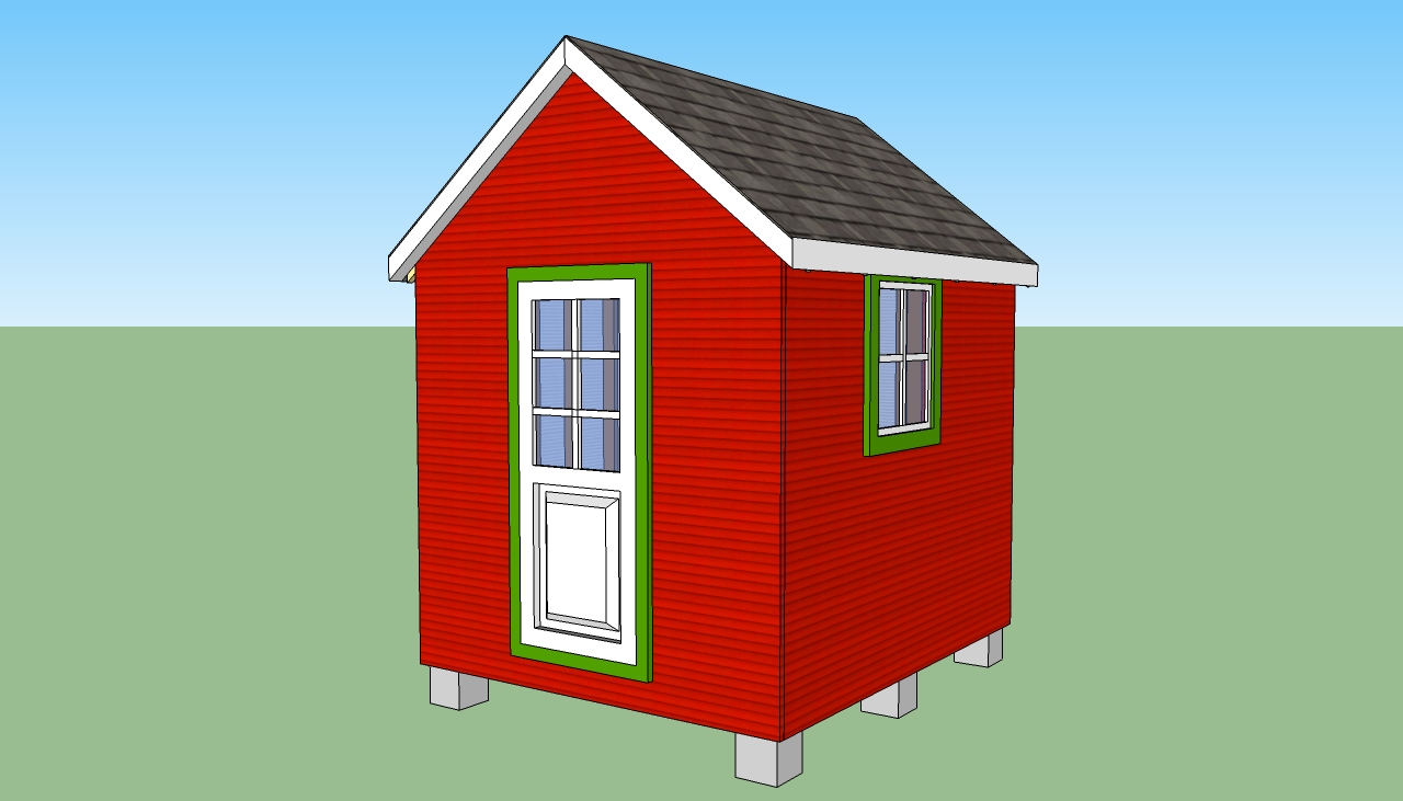 ... Shed bo Plans as well Minicottage. on backyard playhouse storage shed