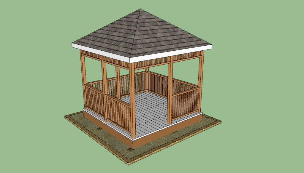 Wooden gazebo plans howtospecialist how to build step by step wooden gazebo plans workwithnaturefo
