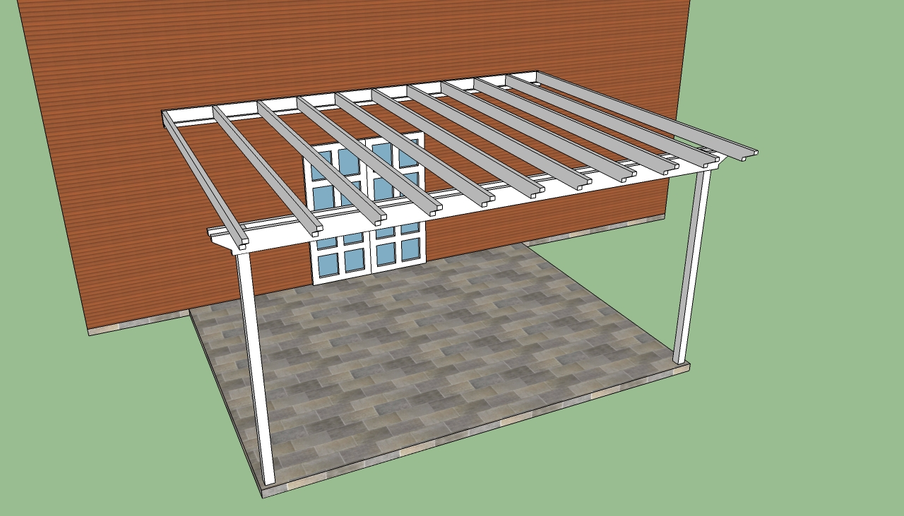 attached pergola construction