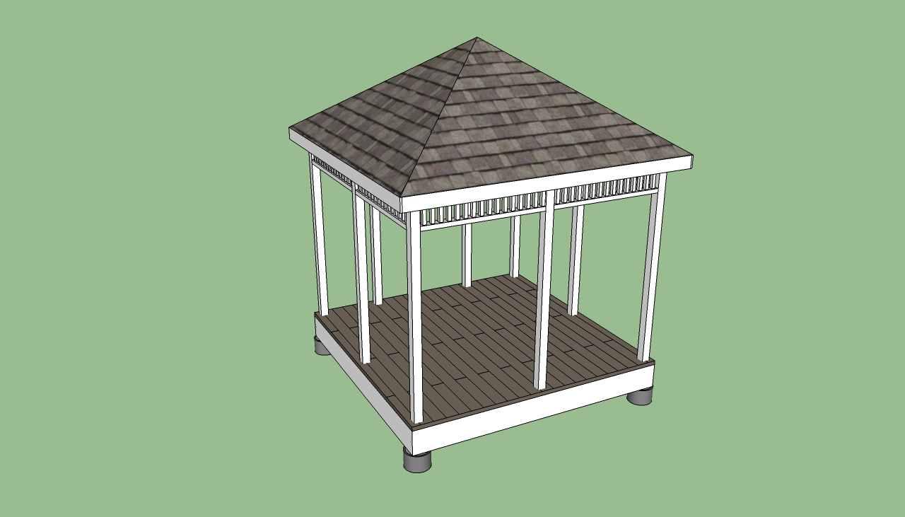 How to build a bamboo pergola gazebo for Simple gazebo plans