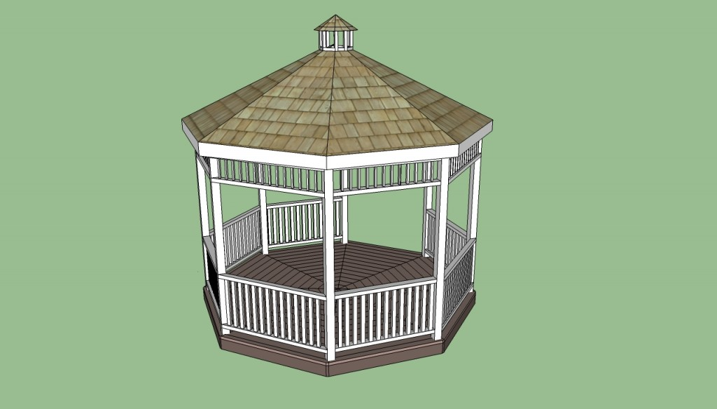 Gazebo designs howtospecialist how to build step by for Gazebo cost to build