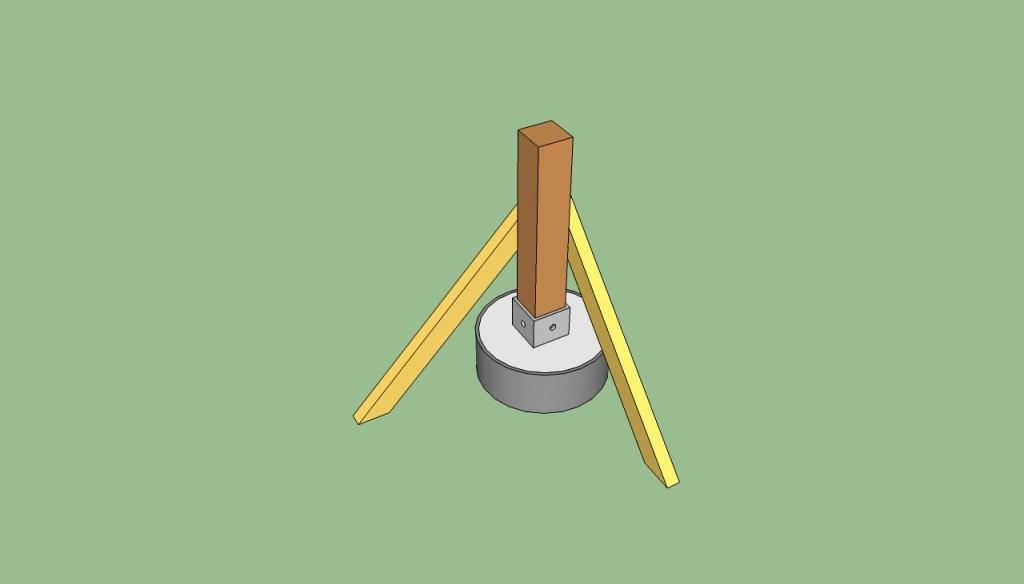how to build deck posts