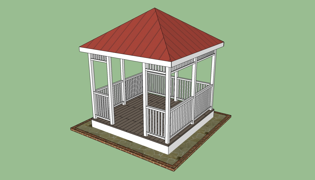 Gazebo designs howtospecialist how to build step by for How to build a square gazebo