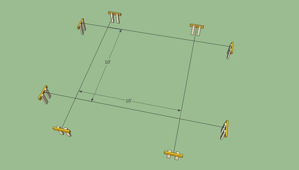 Pergola layout
