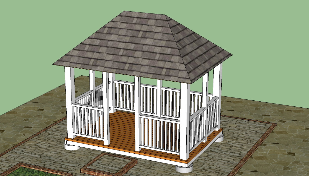 Galerry rectangular gazebo design