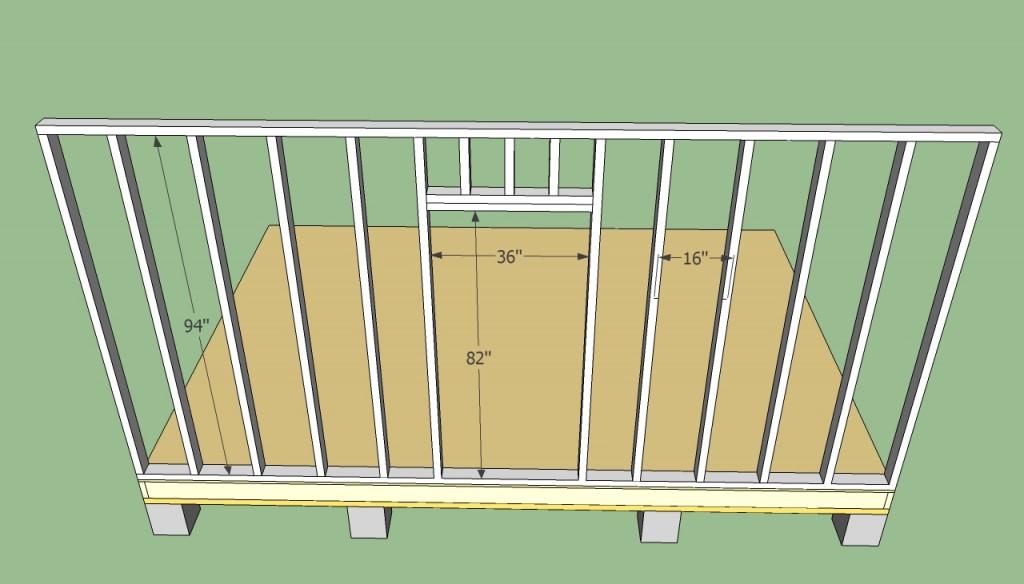 Storage shed door frame