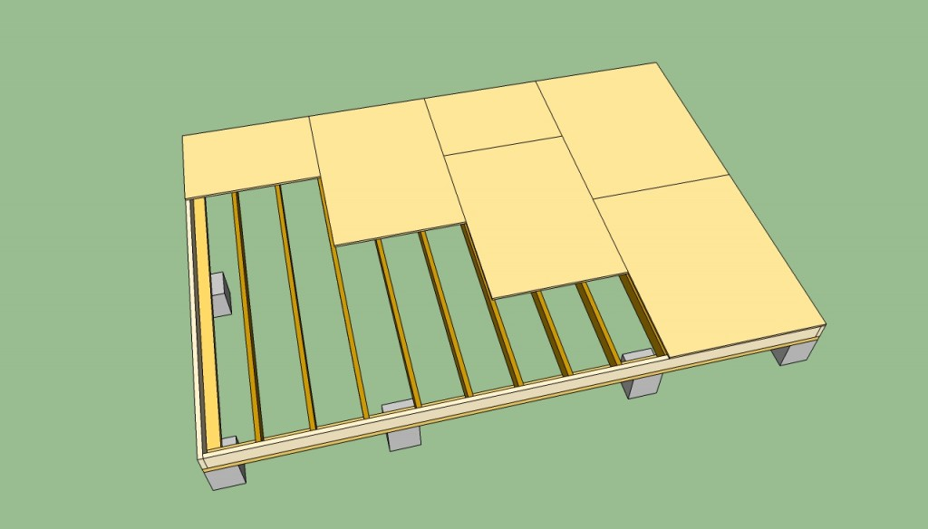 Storage shed flooring