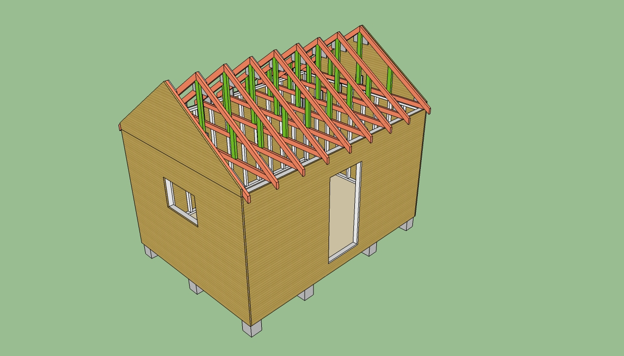 12 X 16 Storage Shed Plans