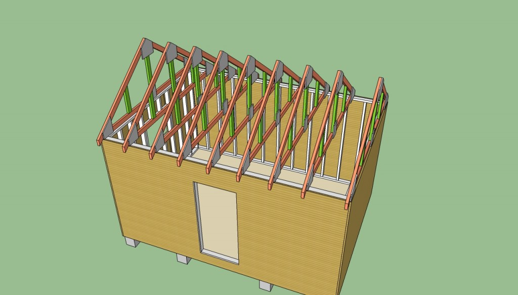 Wood shed roof plans