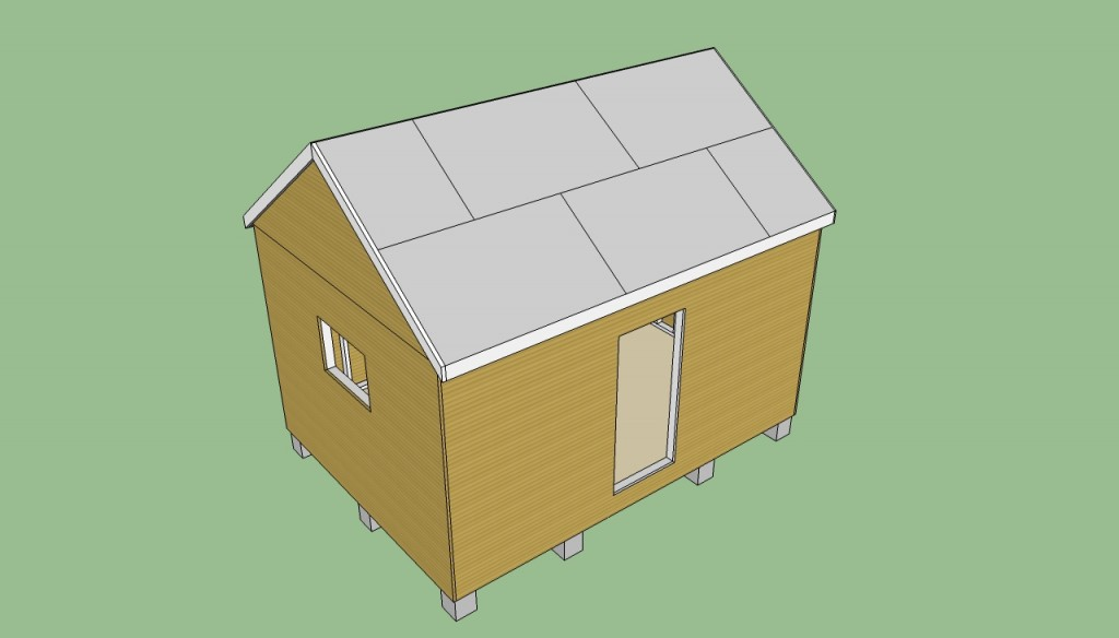 Storage shed roof plans