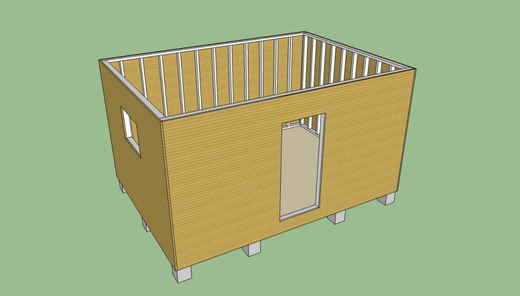 Storage shed siding