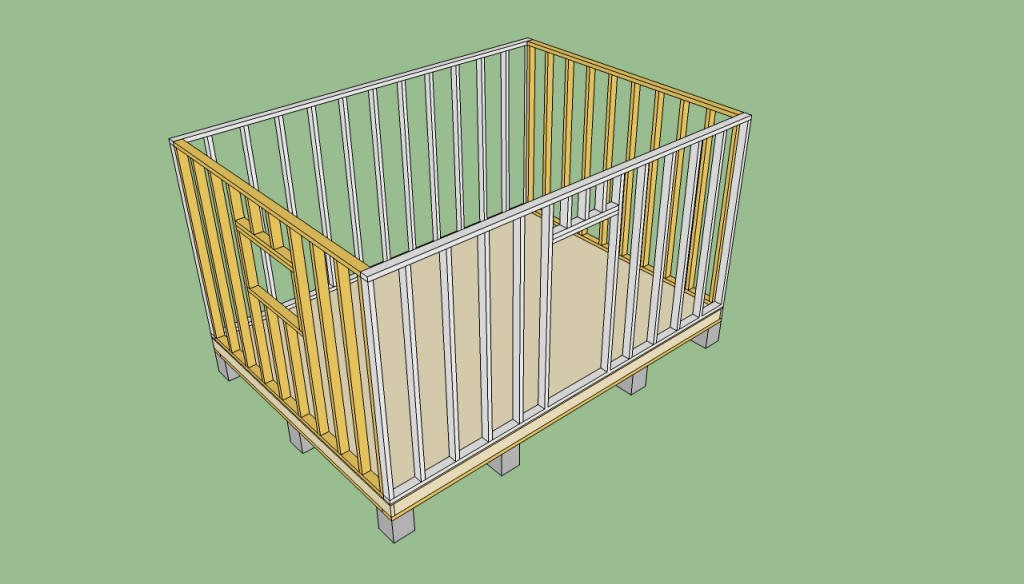 Storage shed wall plans