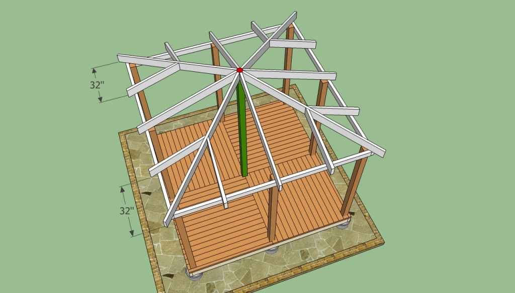 Wooden gazebo plans howtospecialist how to build step by step diy plans - Build wood roof abcs roof framing ...