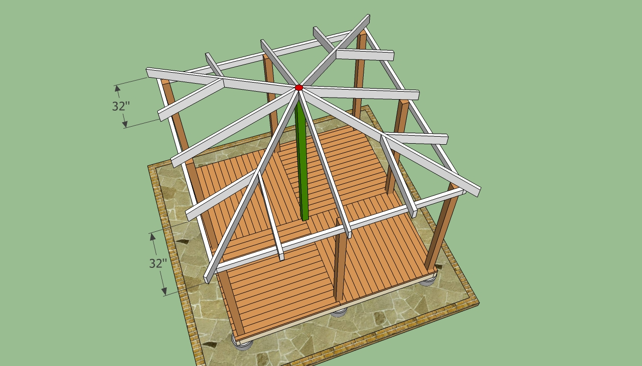 Woodwork gazebo plans free pdf plans for Free cupola blueprints