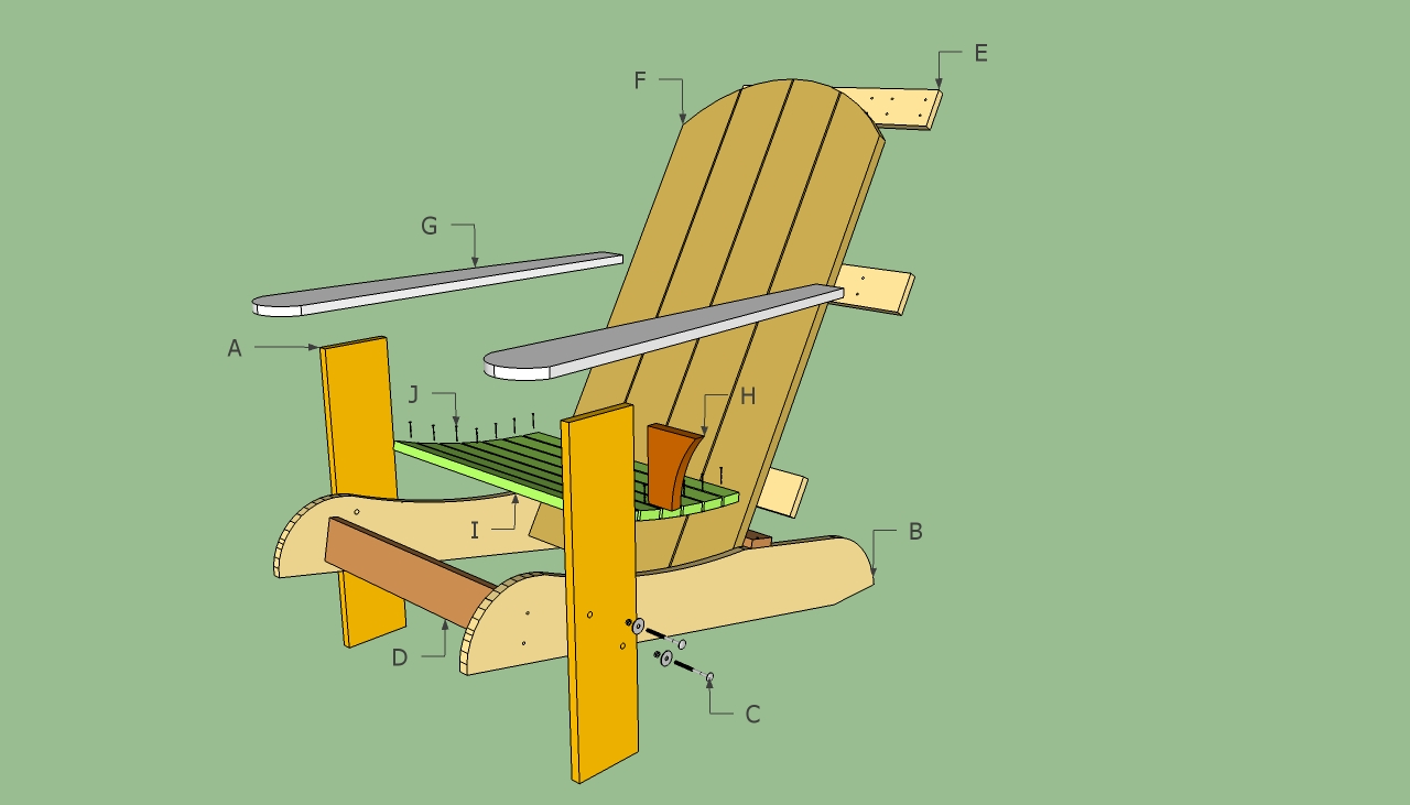 Pattern For Making Adirondack Chairs