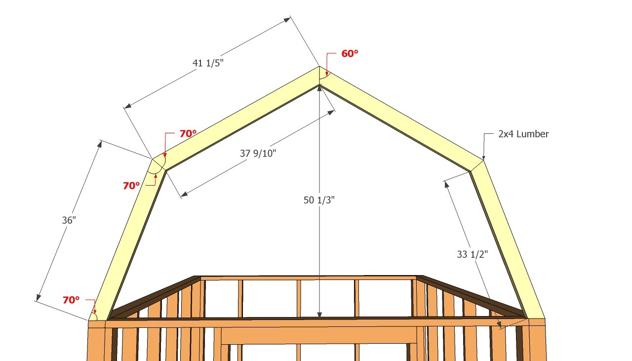 Barn shed plans howtospecialist how to build step by for Building a shed style roof