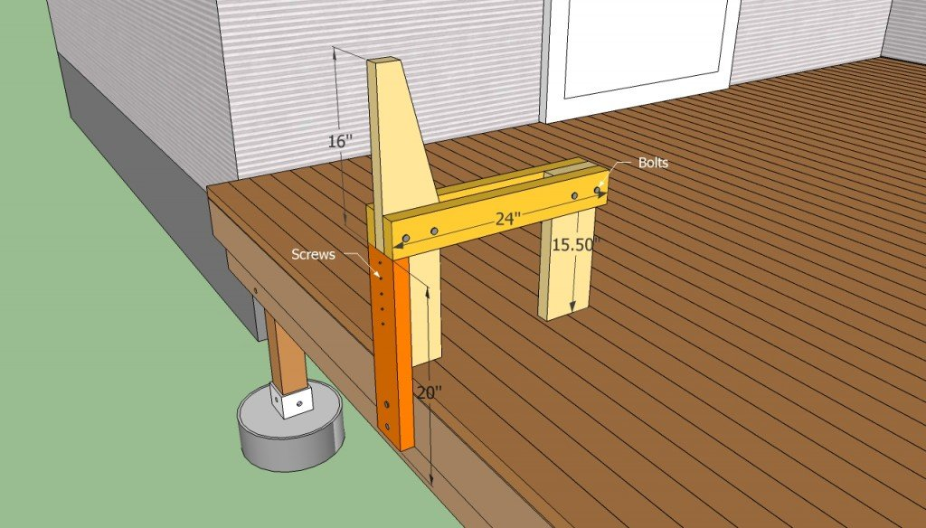 Build a bench on decking