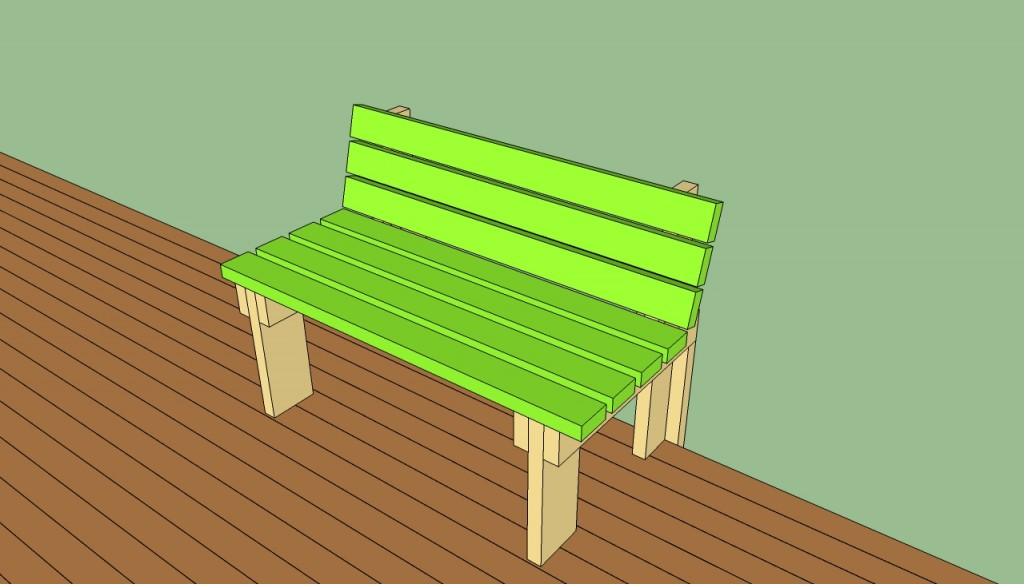 Bench on decking plans