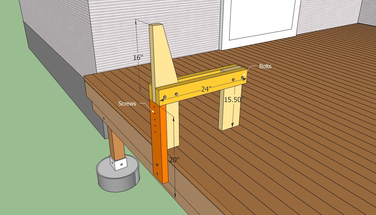 Deck Bench Plans Free | HowToSpecialist - How to Build ...