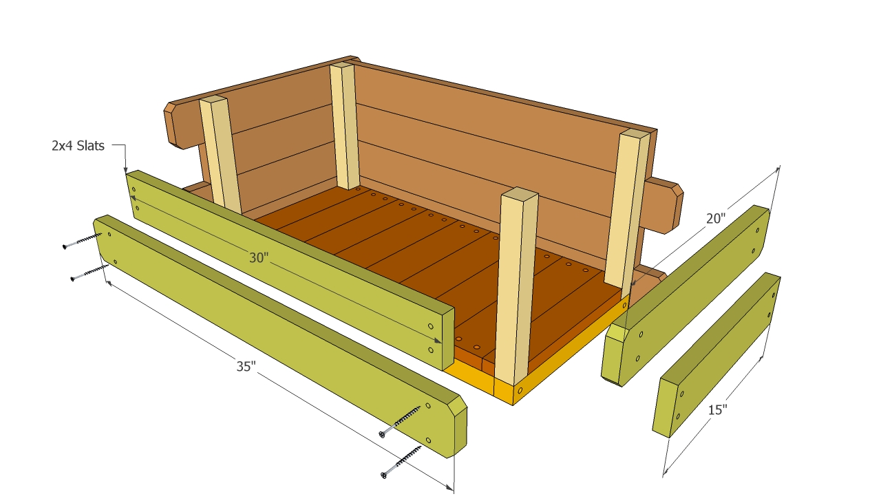 Bench From Pallets also Chest Toy Box Plans in addition Storage Toy ...