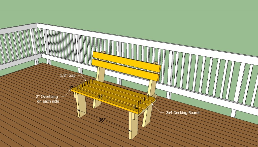 Building deck bench