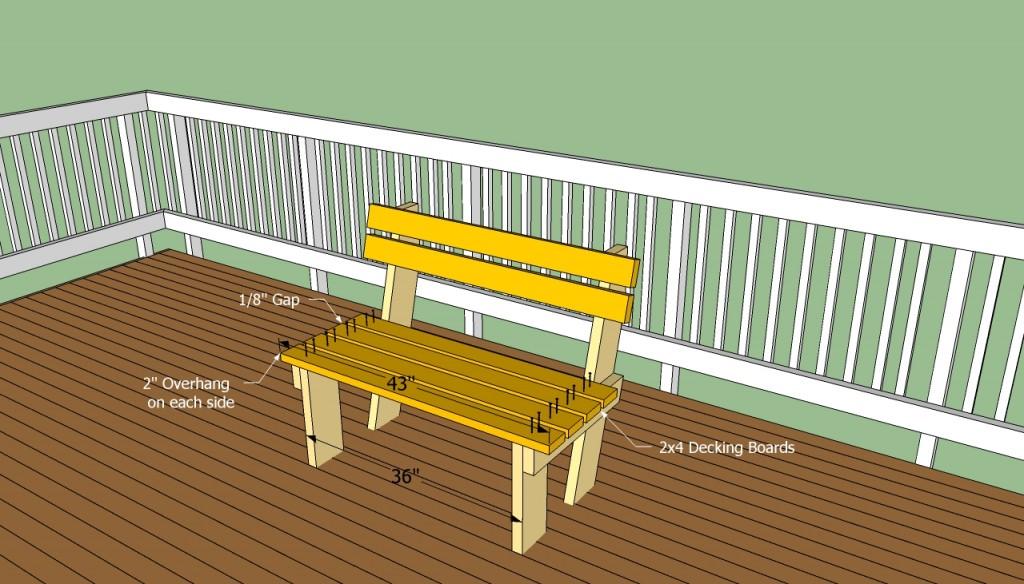 Building deck bench