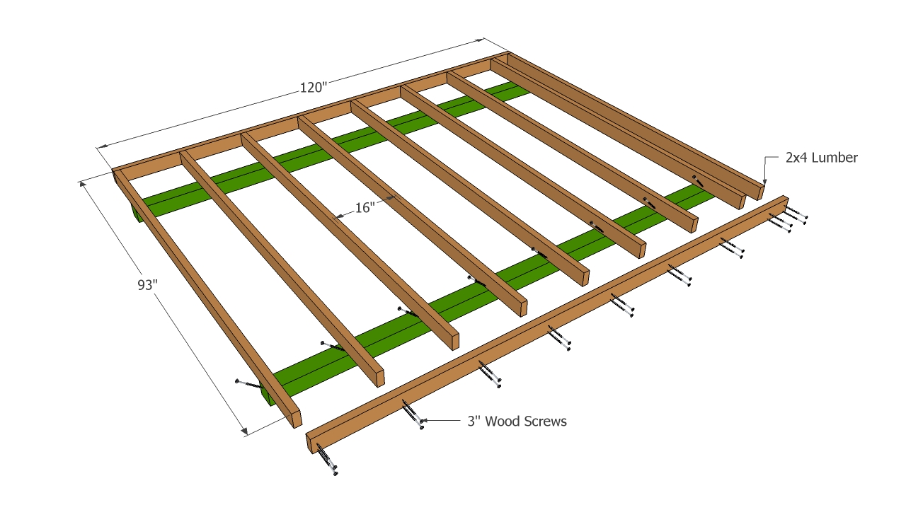 Here build shed floor on skids shed fans 10x10 deck plans